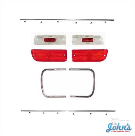 Rear Panel Molding And Bezel Kit With Tail Light Backup Lenses. (Os1) A