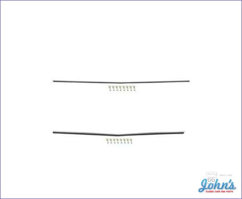 Rear Panel Moldings- Pair- Upper & Lower (Os1) A