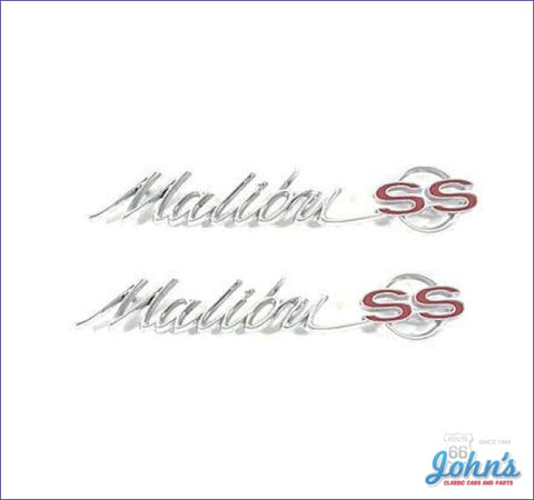 Rear Quarter Panel Malibu Ss Emblems Pair Gm Licensed Reproduction A
