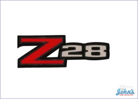 Rear Spoiler Decal Z28 Gm Licensed Reproduction F2