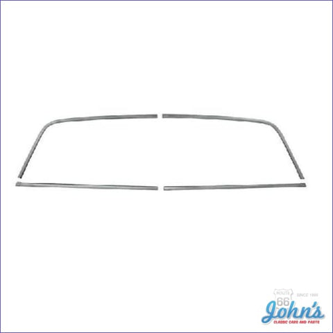 Rear Window Molding Kit 4 Piece Set. (Os1) A