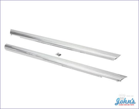 Rocker Panel Moldings Pair - With Clips. (Os2) X