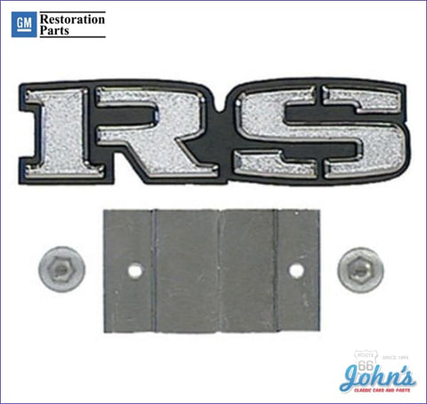 Rs Grille Emblem With Retainer Gm Licensed Reproduction F1