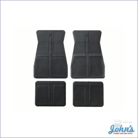 Rubber Floor Mats Oe Style 4Pc Black F2