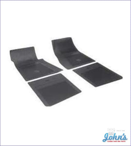 Rubber Floor Mats With Bowtie Logo 4Pc Gm Licensed Reproduction X F1