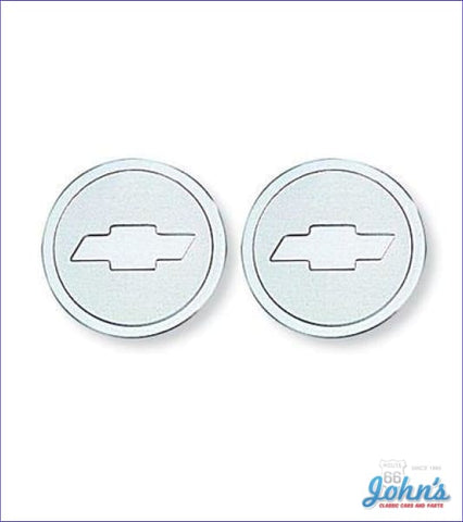 Seat Belt Emblems - Pair Gm Licensed Reproduction X