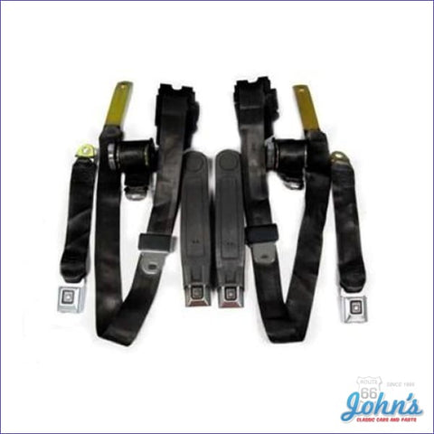 Seat Belt Kit Front And Rear Factory Style. 4Pc F2