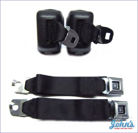 Seat Belt Kit Front Deluxe. Black A