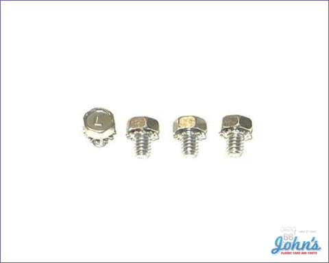 Spark Plug Wire Heat Shield Mounting Bolts Sb. 4Pc A