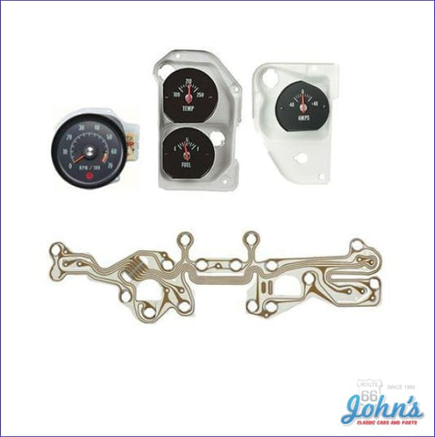 Ss Oe Style Tachometer And Gauge Kit 5500 Red Line. A