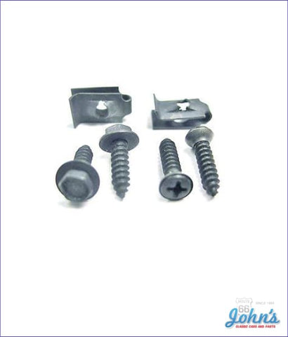 Steering Column Cover At Dash Hardware Kit - 6Pc X