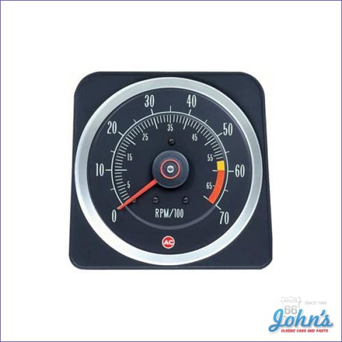 Tachometer- 2Nd Design Z/28 396/375Hp- 6000-7000 Redline Gm Licensed Reproduction F1