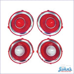 Tail Light And Back Up Lens Kit Rally Sport. 4 Pc. Gm Licensed Reproduction. F2