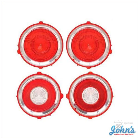 Tail Light And Back Up Lens Kit Standard. 4 Pc. Gm Licensed Reproduction. F2