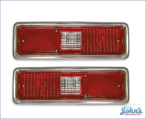 Tail Light Assemblies With Guide On Lenses - Pair. X