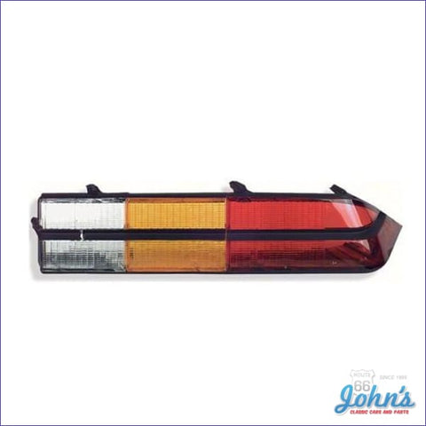 Tail Light Lens Assembly - With Black Center Trim. Standard And Z28. Rh. Gm Licensed Reproduction.