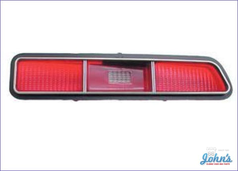 Tail Light Lens With Trim- Standard- Rh. Gm Licensed Reproduction. F1