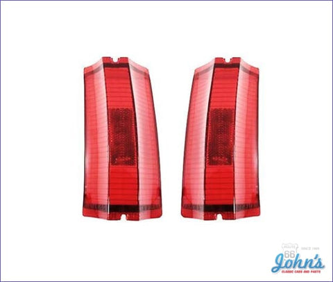 Tail Light Lenses Pair. Gm Licensed Reproduction. A