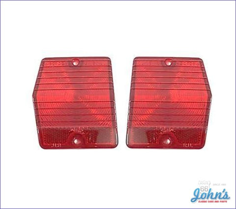 Tail Light Lenses Wagon Only Pair. Gm Licensed Reproduction. X