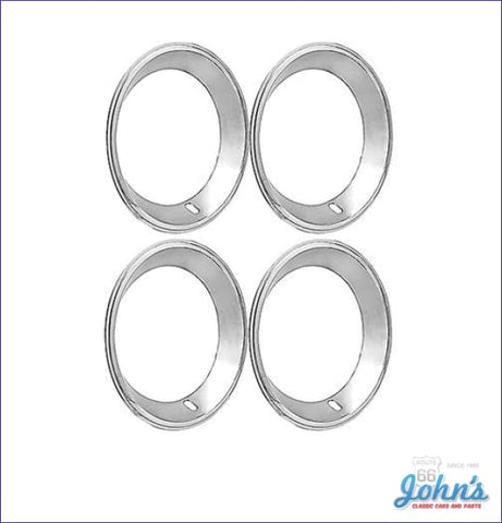 Trim Rings With Factory Lip - Kit Of 4 For 15 X 7 Rally Wheels. (Os1) A F2 F1