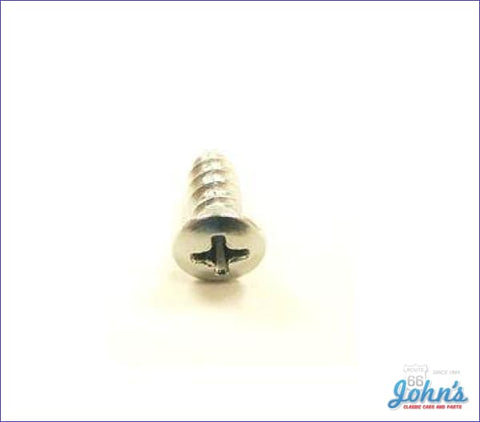 Trim Screw #10 X 1/2 Chrome A F2 F1