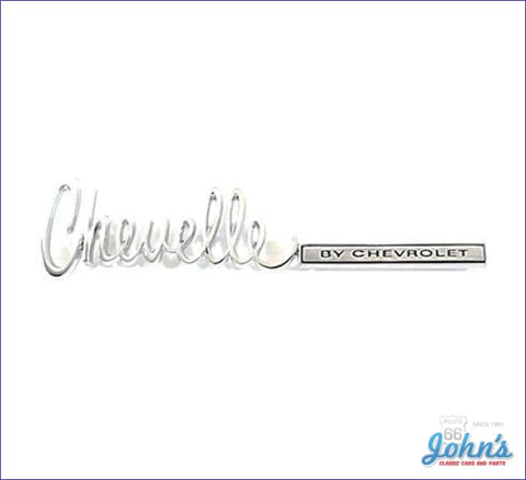 Trunk Emblem Chevelle By Chevrolet. Gm Licensed Reproduction. A