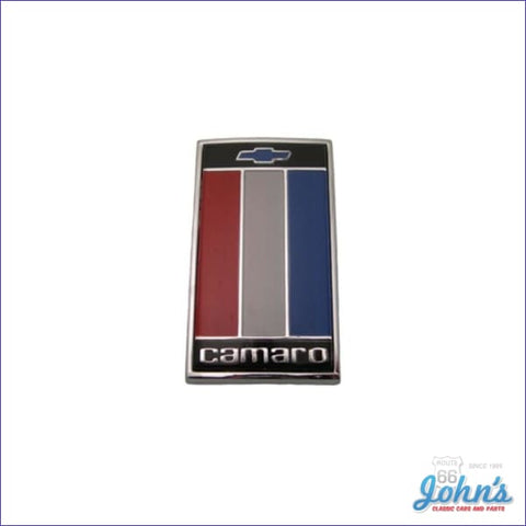 Trunk Lid Emblem. Red/white/blue. Gm Licensed Reproduction. F2