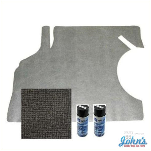 Trunk Mat And Gm Spatter Paint Kit. Gray Herringbone. A