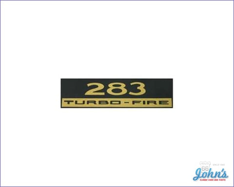 Valve Cover Decal 283 Turbo-Fire. Each A X