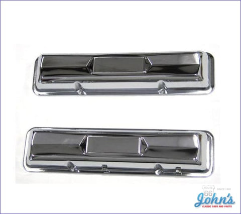 Valve Covers Chrome Style With 327 L79. Pair A X