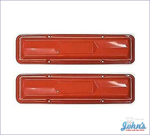 Valve Covers Painted Orange With 327 (Except L79). Pair A X