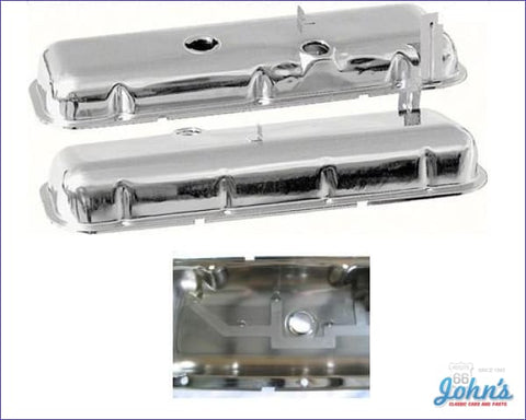 Valve Covers With Oil Drippers Chrome. Bb Without Power Brakes Oe Correct. Pair A F2 X F1