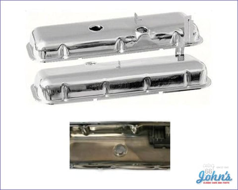 Valve Covers Without Oil Drippers Chrome. Bb Power Brakes Oe Correct. Pair A F2 X F1