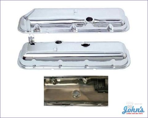 Valve Covers Without Oil Drippers Chrome. Bb With Power Brakes Oe Correct. Pair A F2 X F1