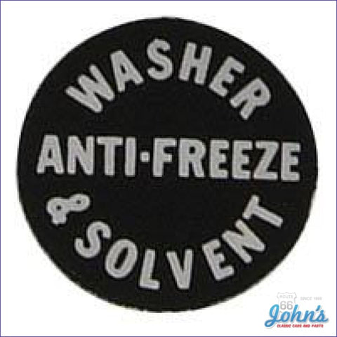 Washer Bottle Cap Decal A X