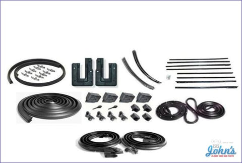 Weatherstrip Kit 2Dr Hardtop. With 8Pc Oem Style Windowfelts. X