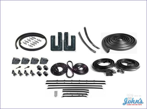 Weatherstrip Kit 2Dr Hardtop. With 8Pc Reproduction Style Windowfelts. X