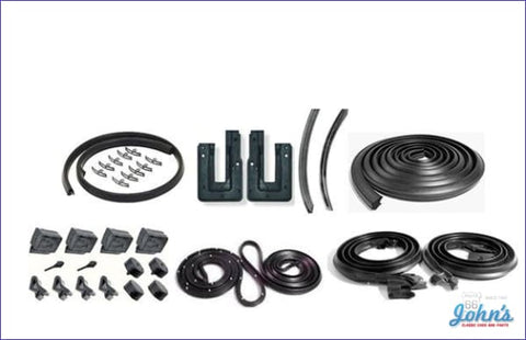 Weatherstrip Kit 2Dr Hardtop. Without Windowfelts. X