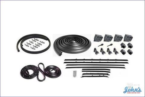 Weatherstrip Kit 2Dr Sedan. With 8Pc Reproduction Style Windowfelts. X