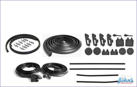 Weatherstrip Kit 2Dr. With 4Pc Oem Style Outer Windowfelts. X