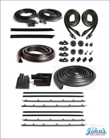 Weatherstrip Kit Coupe W/8Pc Inner And Outer Oe Windowfelts. A