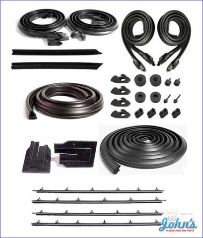 Weatherstrip Kit Coupe. With 4Pc Outer Oem Style Windowfelts. A