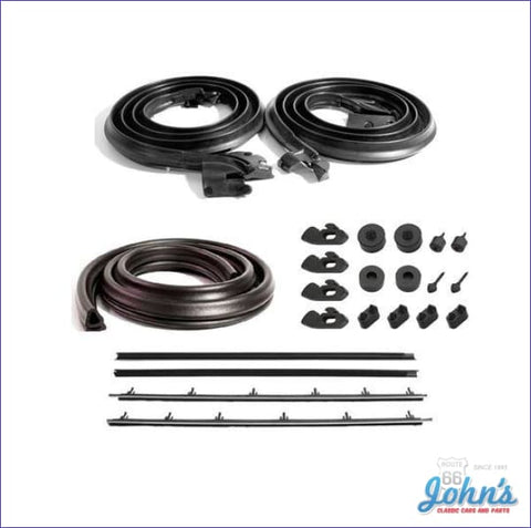 Weatherstrip Kit With 4 Piece Inner And Outer Oe Windowfelts. A