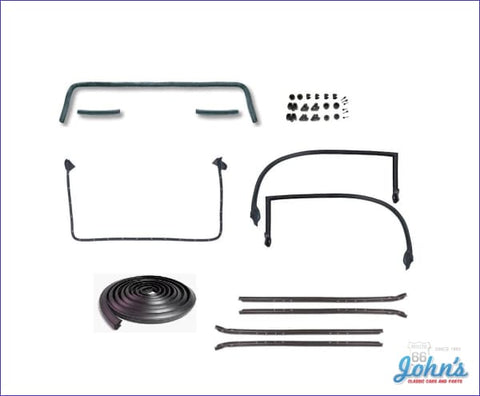 Weatherstrip Kit With Oe Style 4Pc Inner And Outer Windowfelts - For Cars Door Upper Moldings. For