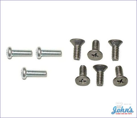 Wood Or Sport Cushion Grip Steering Wheel To Hub And Contact Screw Kit- 9Pc A X F2 F1