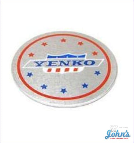 Yenko Wheel Center Decal - Use With Torque Thrust Each. X F1