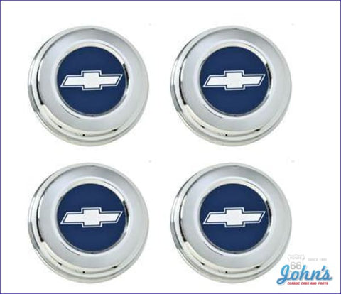 Z28 Wheel Center Cap Kit (With Silver & Blue Insert) - 4Pc. F2