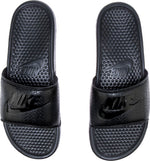Nike Benassi Sliders In Black