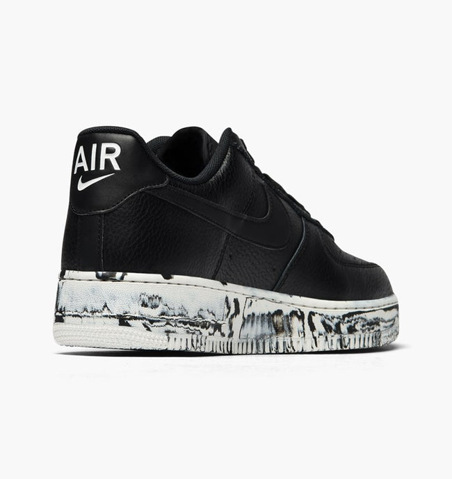 Nike Air Force 1 Black With Paint Splattered Sole