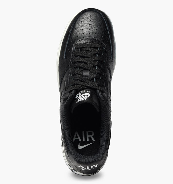 online store 197a7 14de3 Nike Air Force 1 Black With Paint Splattered Sole